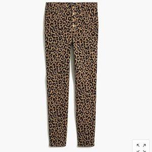 J Crew high rise leopard jeans